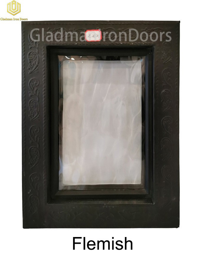 Custom Wrought Aluminum Door Flemish Glass