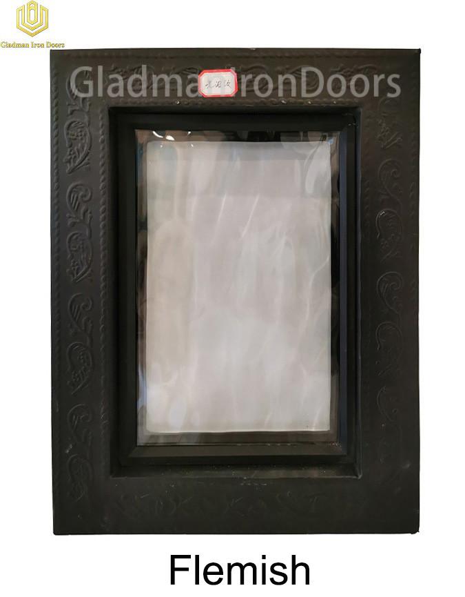 Custom Wrought Aluminum Door Flemish Glass