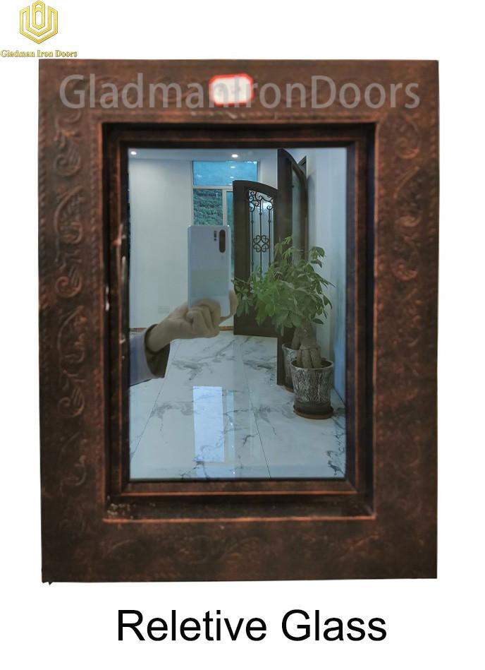 Custom Wrought Aluminum Door  Reletive Glass