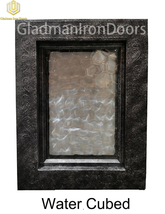 Custom Wrought Aluminum Door  Water Cubed
