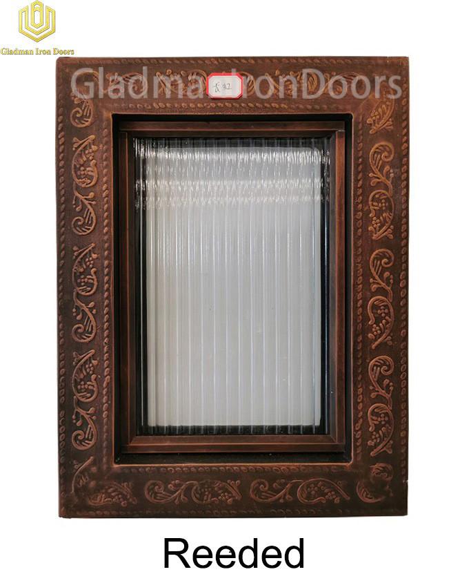 Custom Wrought Aluminum Door Reeded