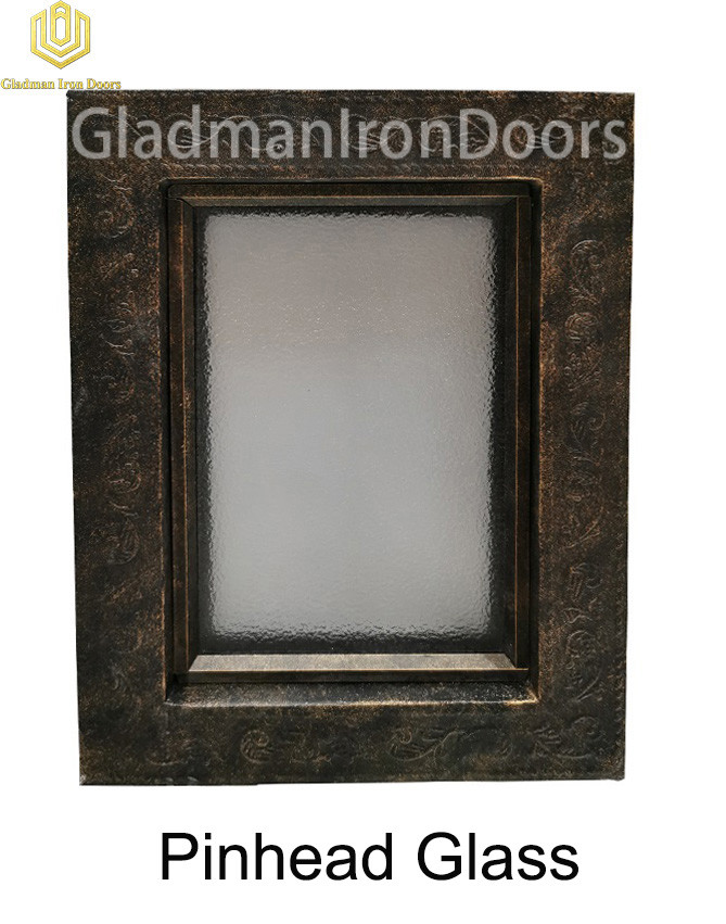 Custom Wrought Aluminum Door  Pinhead Glass