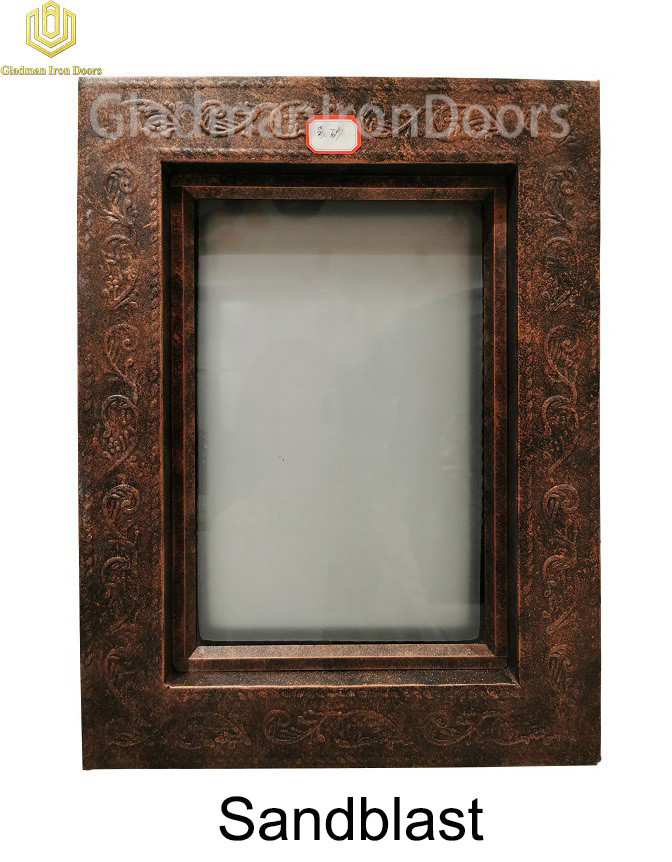 Custom Wrought Iron Door Sandblast