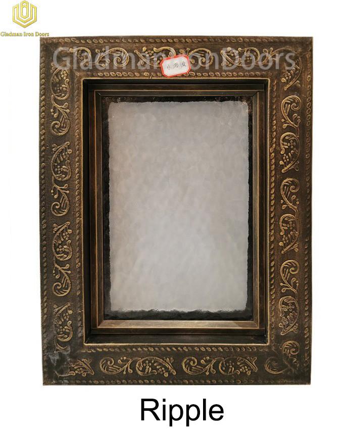 Custom Wrought Iron Door  Ripple