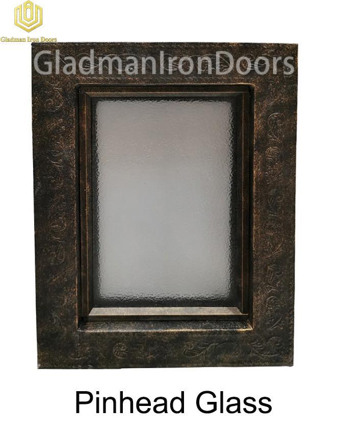 Custom Wrought Iron Door Pinhead Glass