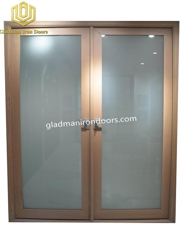 Double Aluminum Front Door With Sandblast
