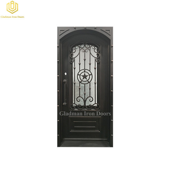 Gladman Wrought Iron Security Front Door and Frame and Threshold