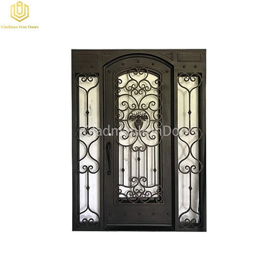 Square Top Aluminum Single  Door Design Lattern Color