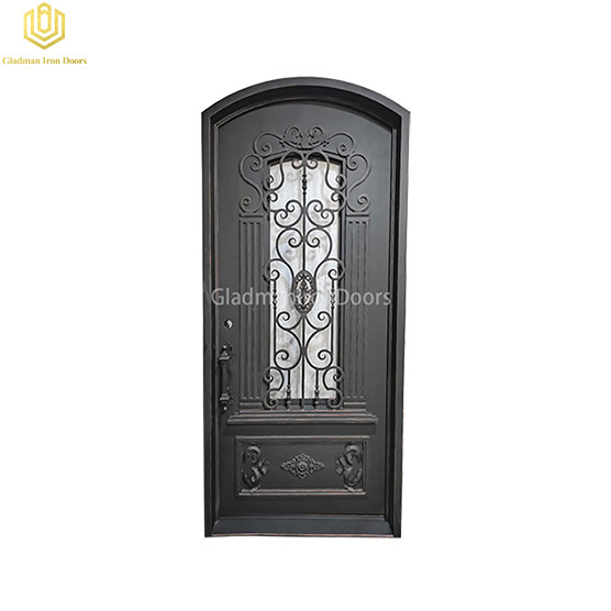 Single Aluminum Front Door Round top