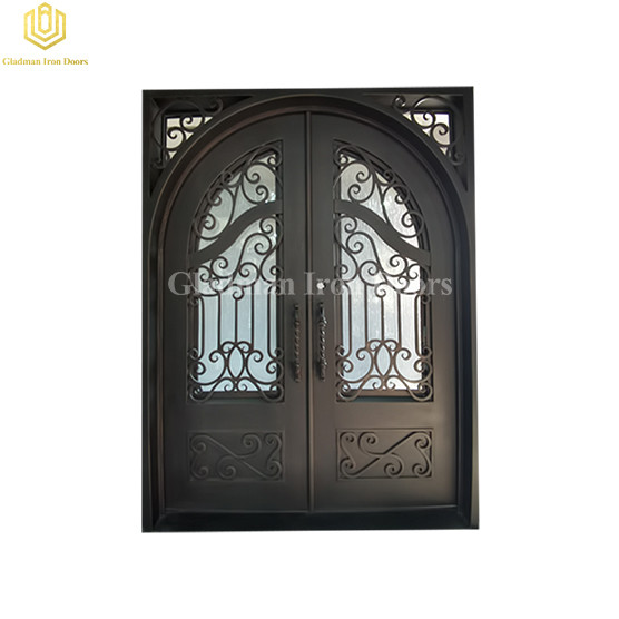 Factory Price Bespoke Safety Clear Low Iron Tempered Toughened Glass Aluminum Door