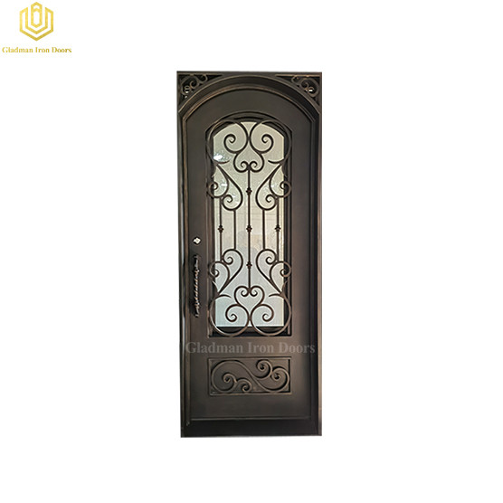 High Security Interior Steel Door Square Jamb Iron Solid Entrance