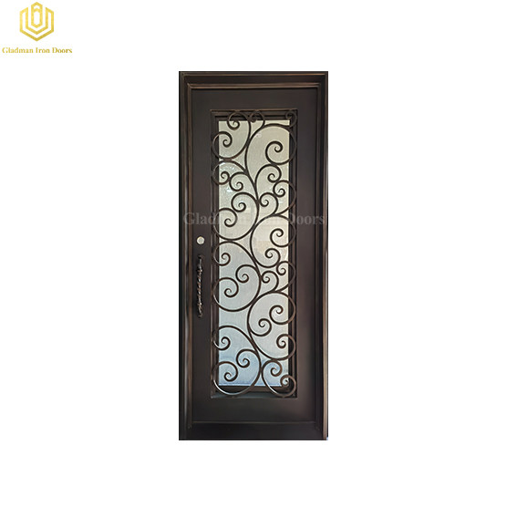 Exterior Metal Glass Door Steel Frame Durable