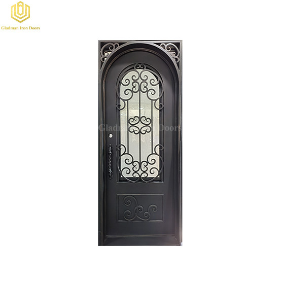 New Design Wrought Iron Security Door Crafted Single Gate
