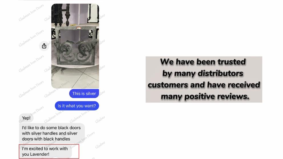 GLADMAN IRON DOORS | Customer Positive Reviews