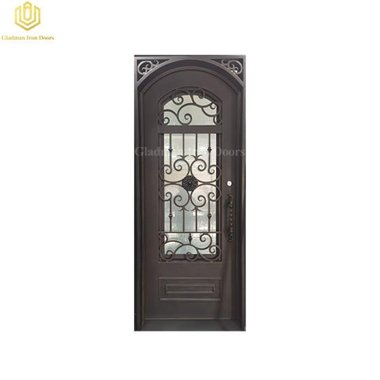 Cast Iron Entry Door with Metal Door for Decoration