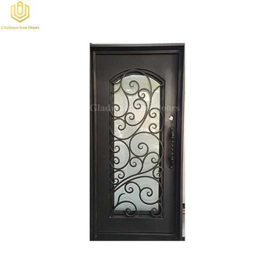 Metal Steel Iron Security Door Modern Elegant