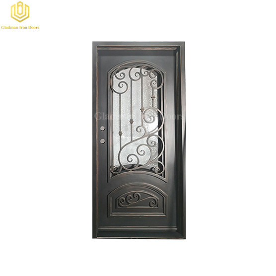 High Quality Simple Steel Metal Door High Arch Solid