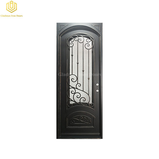 Metal Aluminum Door Single High Security Solid Residential Steel Entrance