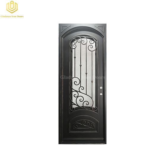 Metal Aluminum Door Single High Security Solid Residential Steel Entrance