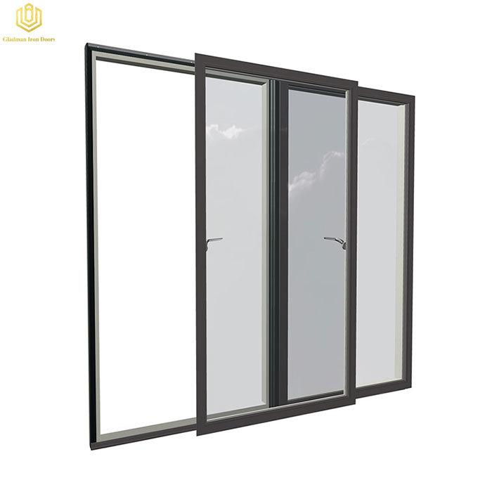 Matte Black Double Glaze Sliding Doors