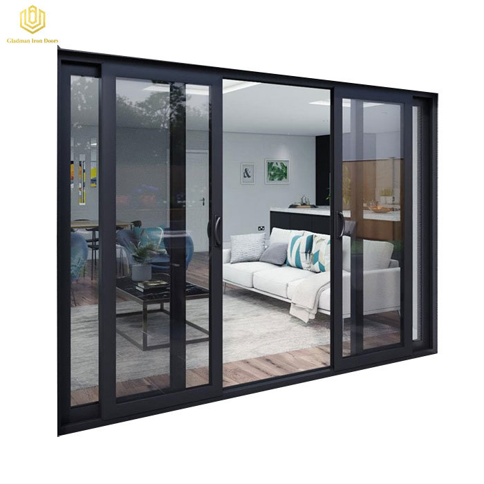Modern House Tempered Glass Sliding Door For Living Room