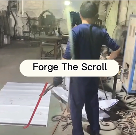 GLADMAN IRON DOORS | Technological Process -- Forge The Scroll