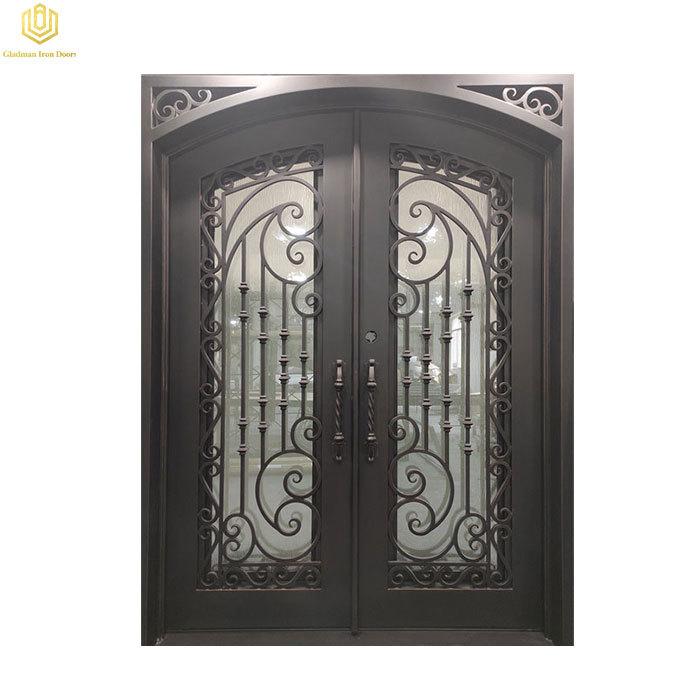 Double Iron Door With Square Top Entrance Door Rust-proof