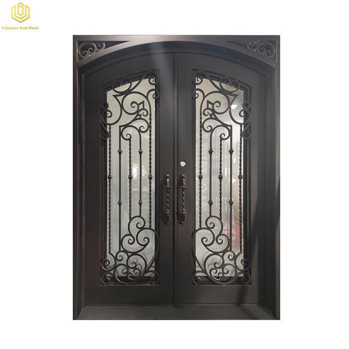 Wrought Iron Door Front Door Square Top Lantern Color