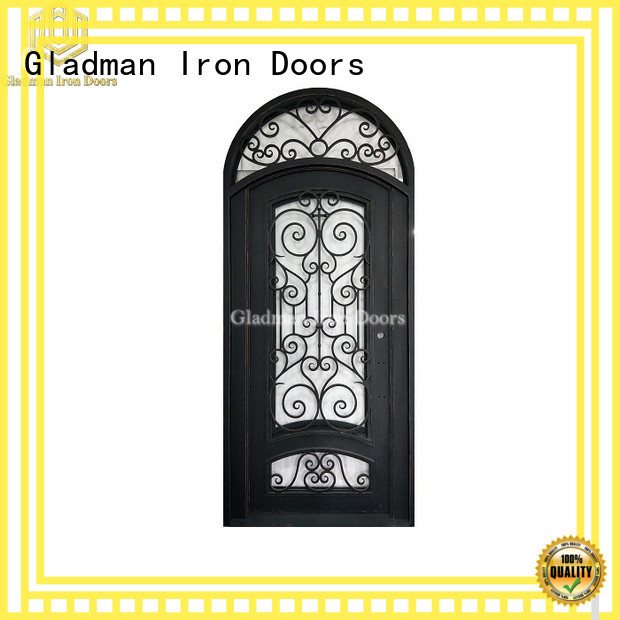 Gladman high quality wrought iron doors one-stop services for sale