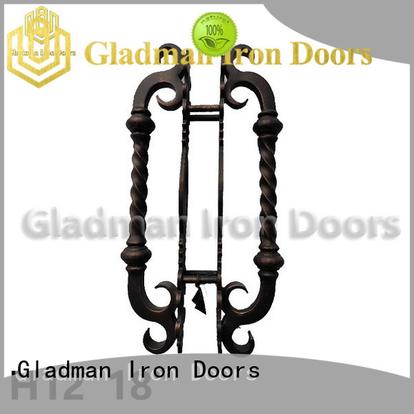 Gladman wrought iron door handles from China for distribution