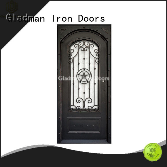 Gladman 100% quality wrought iron doors factory for sale