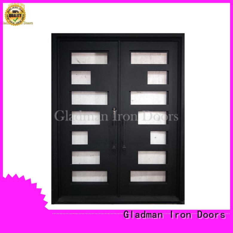 Gladman gorgeous iron double door design wholesale for sale