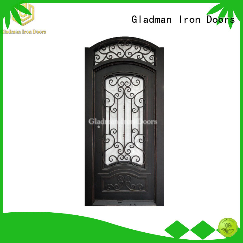 Gladman wrought iron doors one-stop services for sale