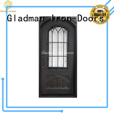 Gladman high quality wrought iron doors manufacturer for sale