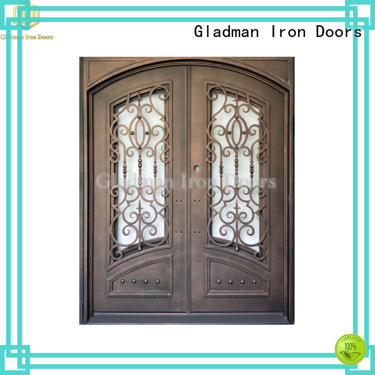 Gladman double iron doors manufacturer for outdoor