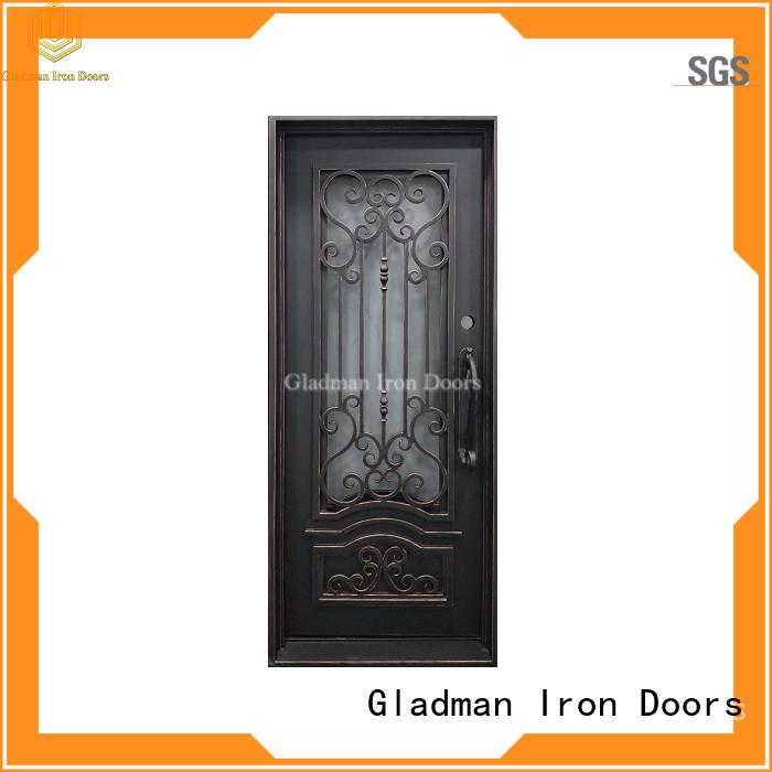 Gladman single iron door design manufacturer for sale