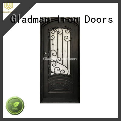 Gladman high-end quality wrought iron doors factory