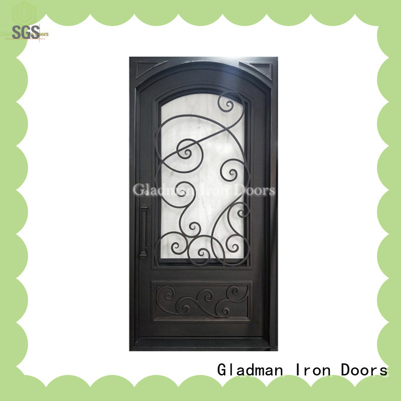 high-end quality single iron door design one-stop services