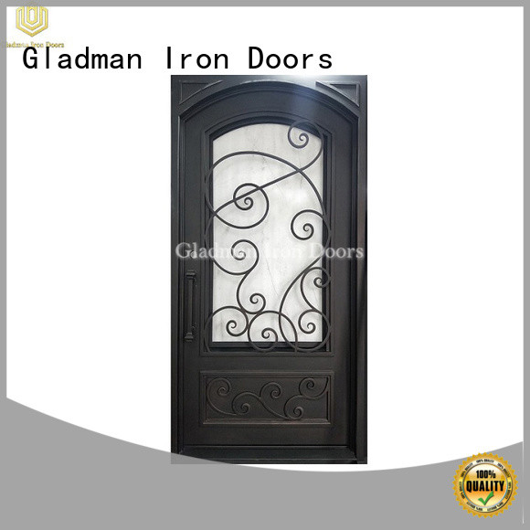 Gladman high-end quality single iron door design factory