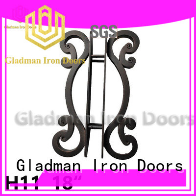Gladman cheap wrought iron door handles from China for distribution