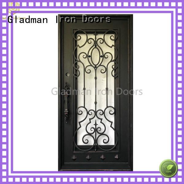 high-end quality single iron door design manufacturer
