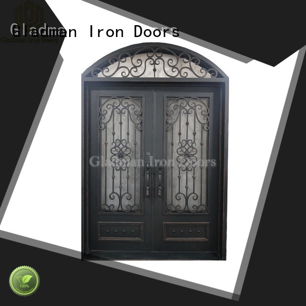 hot sale wrought iron door one-stop services for home