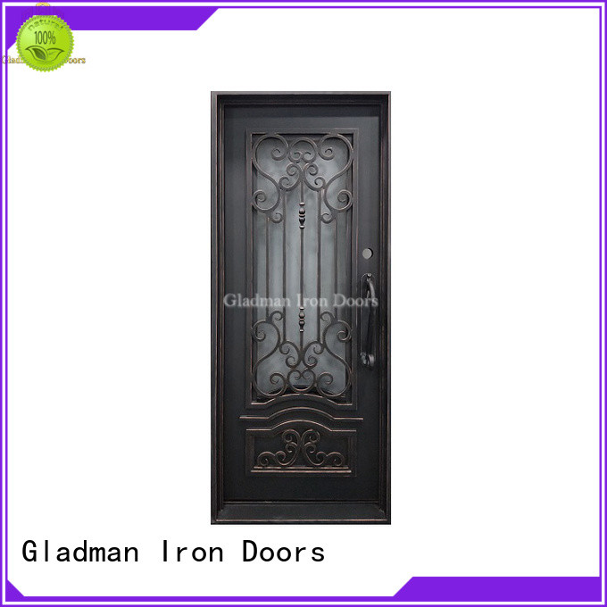 Gladman high-end quality single iron door design manufacturer