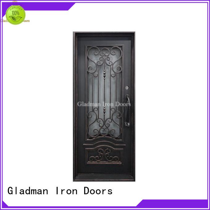 Gladman high-end quality single iron door design manufacturer