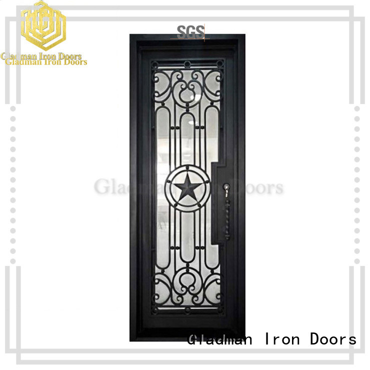 Gladman high quality wrought iron security doors one-stop services for sale