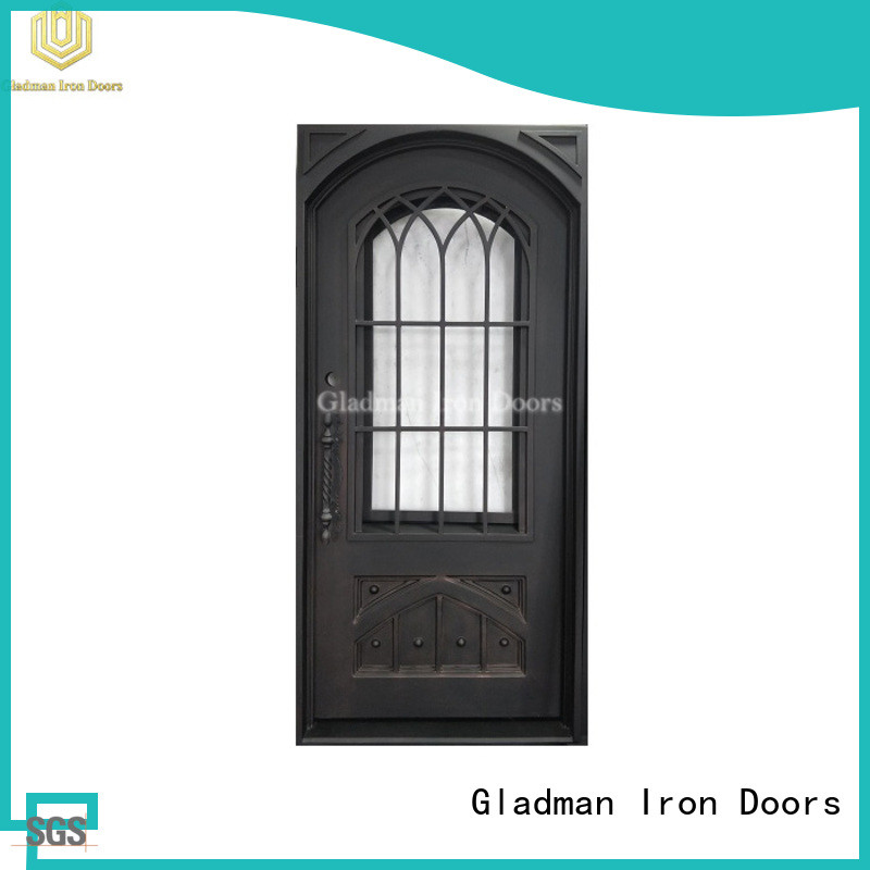Gladman 100% quality single iron door design factory for sale
