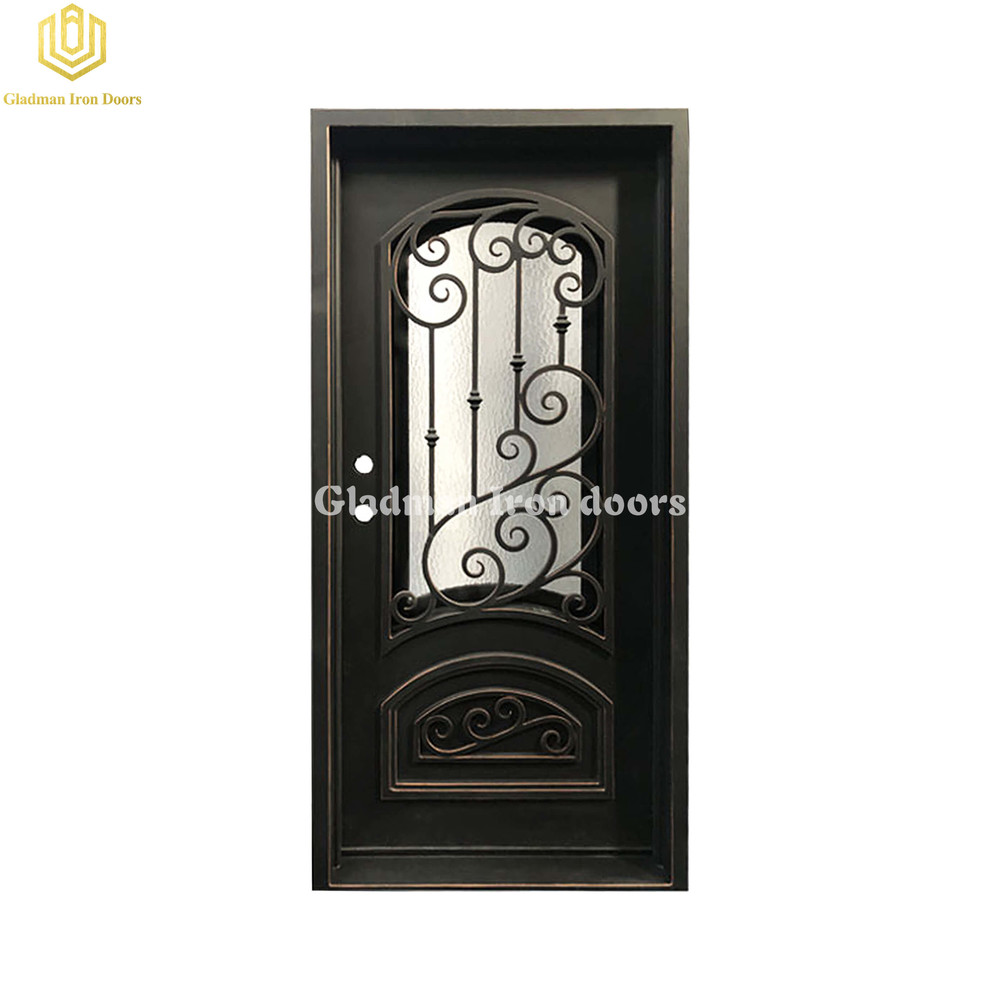 Single Wrought Iron Security Front Door Latern w/cooper